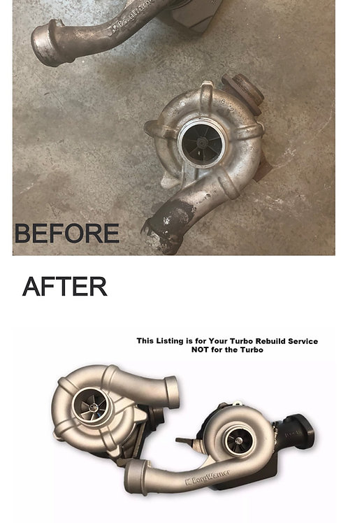 Turbo Rebuild SERVICE 6.4L 08-10 Ford Powerstroke Borg-Warner Compound Turbos