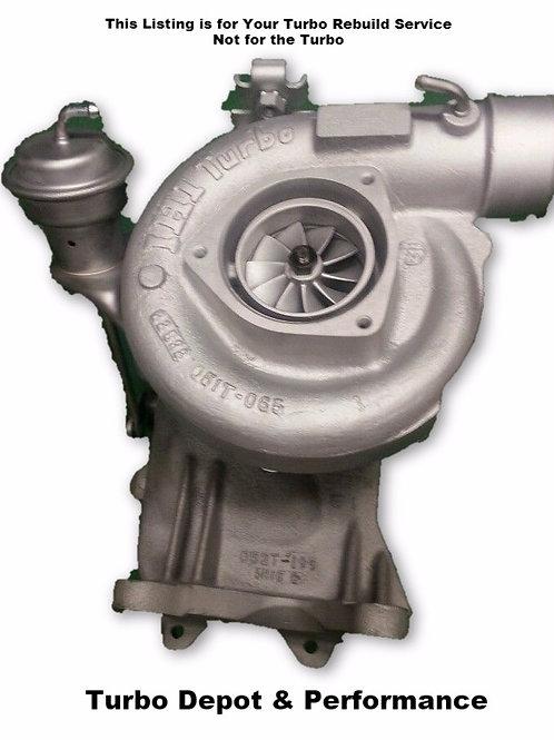 Turbo Rebuild SERVICE for 2000-2004 LB7 Chevy Duramax 6.6L IHI Turbo