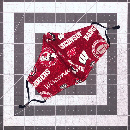 Wisconsin Badgers Home State Mask