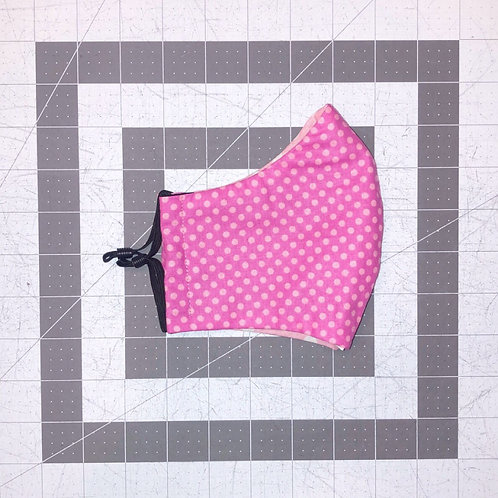 Hot Pink Polka Dot Mask