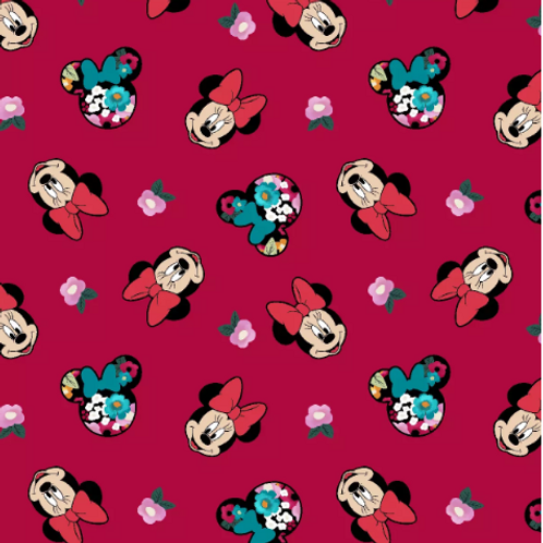 Minnie Mouse Floral Mask