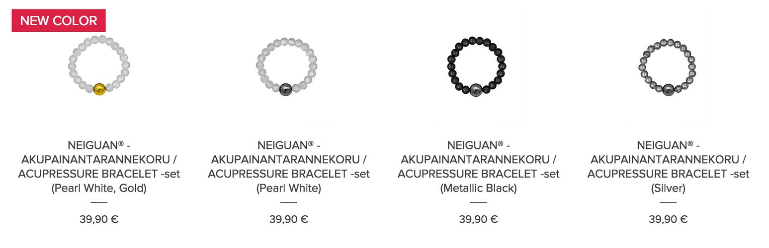 Neiguan Acupressure Bracelets