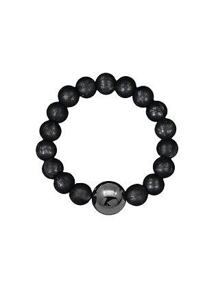 NEIGUAN® KIDS -AKUPAINANTARANNEKORU / ACUPRESSURE BRACELET -set (Metallic Black)