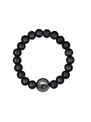 NEIGUAN® -AKUPAINANTARANNEKORU / ACUPRESSURE BRACELET -set (Metallic Black)
