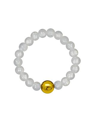 NEIGUAN® -AKUPAINANTARANNEKORU / ACUPRESSURE BRACELET -set (Pearl White, Gold)