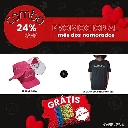 1Boné Rosa + Camiseta = Mó Fita