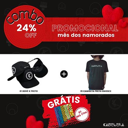 1Boné Bordado + Camiseta = Mó Fita