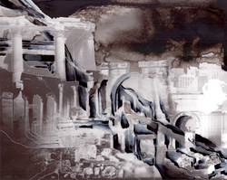 Creuser l'image (Palmyre) #2, gravure à