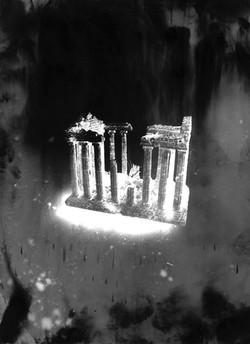 Parthénon #4, série Submergées (ruine