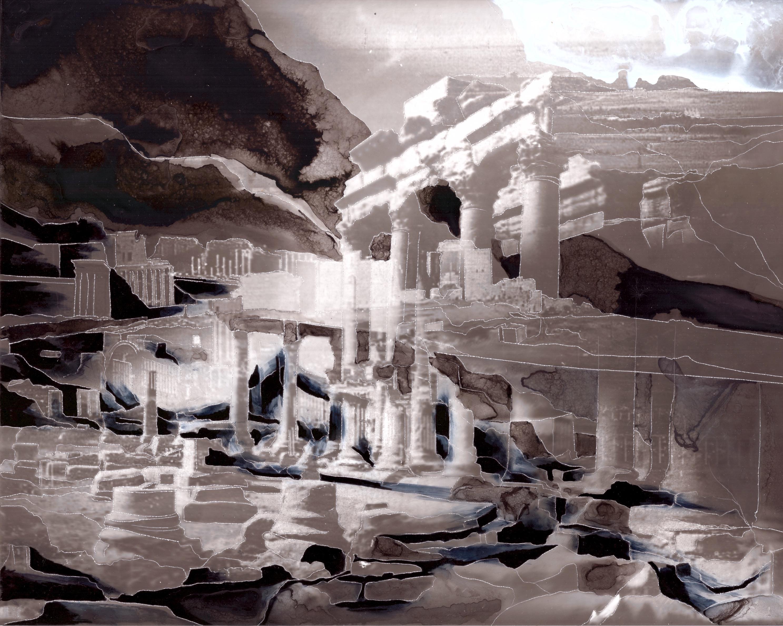 Creuser l'image (Palmyre) #3, gravure à