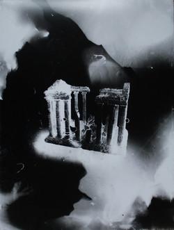 Parthénon #2, série Submergées (ruine