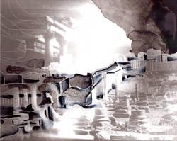 Creuser l'image (Palmyre) #4, gravure à