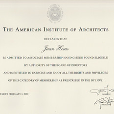 Proud new Assoc. AIA Member.