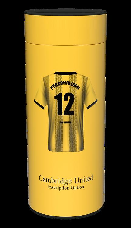 Custom Personalised Cremation Ashes Casket Urn FOOTBALL TEAM CAMBRIDGE