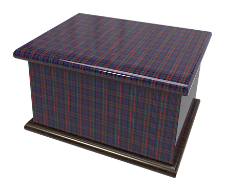 Scottish tARTAN design PERSONALISED CUSTOM Cremation Ashes Caskets, Urns and Keep-Sakes