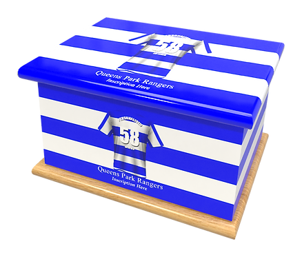 Personalised Custom Cremation Ashes Caskets QUEENS PARK RANGERS FOOTBALL CLUB THE Rs THE SUPERHOOPS