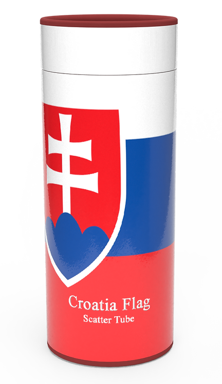 Personalised Custom Bespoke Ashes Scattering Tube Urn for Cremated Remains in four sizes CROATIA FLAG