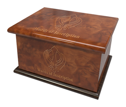 Custom Personalised Cremation Ashes Casket RELIGIOUS SPIRITUAL FAITH SIKH