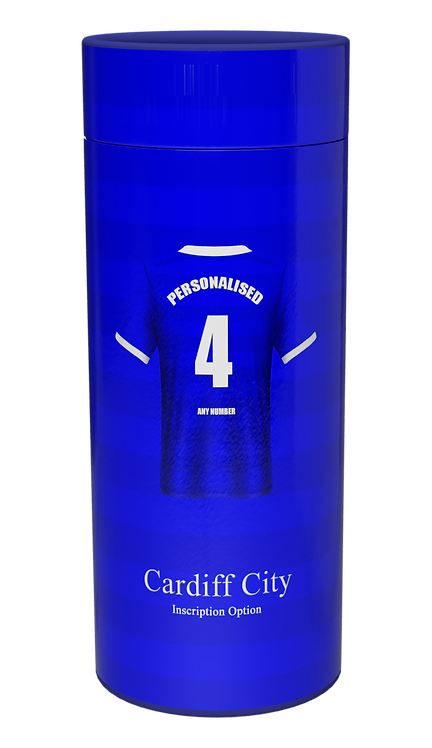 Custom Personalised Cremation Ashes Casket Urn Scatter Tube CARDIFF CITY
