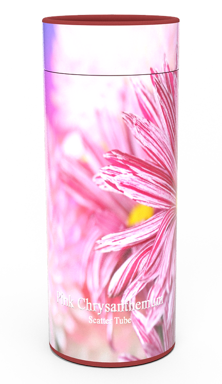 Custom Personalised Funeral Cremation Ashes Casket Urn Floral Flower Designs  PINK CHRYSANTHEMUM