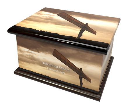Custom Personalised Bespoke Cremation Ashes Casket ANGEL OF THE NORTH