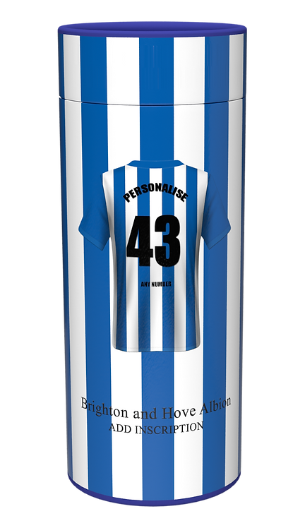 Custom Personalised Cremation Ashes Casket Urn Scatter Tube BRIGHTON HOVE ALBION
