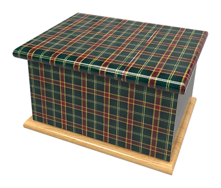 Scottish TARTAN design PERSONALISED CUSTOM Cremation Ashes Caskets, Urns and Keep-Sakes