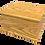 Personalised Custom TEAK Wood Effect Cremation Ashes Casket
