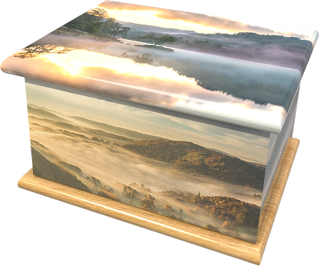 Personalised Custom Cremation Ashes Caskets and Keep-Sake Urns in a LAKE DISTRIC Landscape design