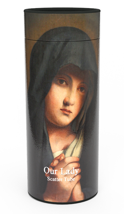 Custom Personalised Cremation Ashes Casket Urn OUR LADY