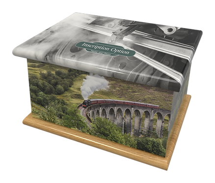 Custom Personalised Cremation Ashes Casket Urn STEAM TRAIN RAILWAY HARRY POTTER TRAIN