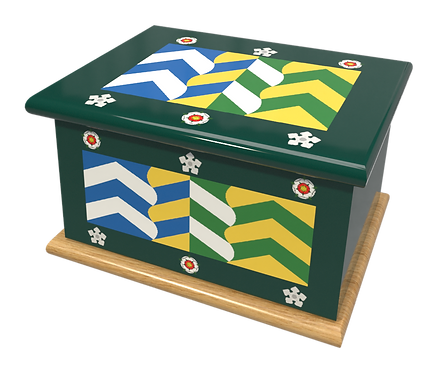 Personalised Custom Cremation Ashes Caskets COUNTRY AND BRITISH COUNTY FLAGS CUMBRIA