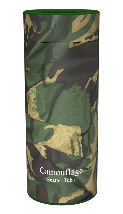 Custom Personalised Ashes Casket Urn Scatter Tube ARMY CAMOUFLAGE
