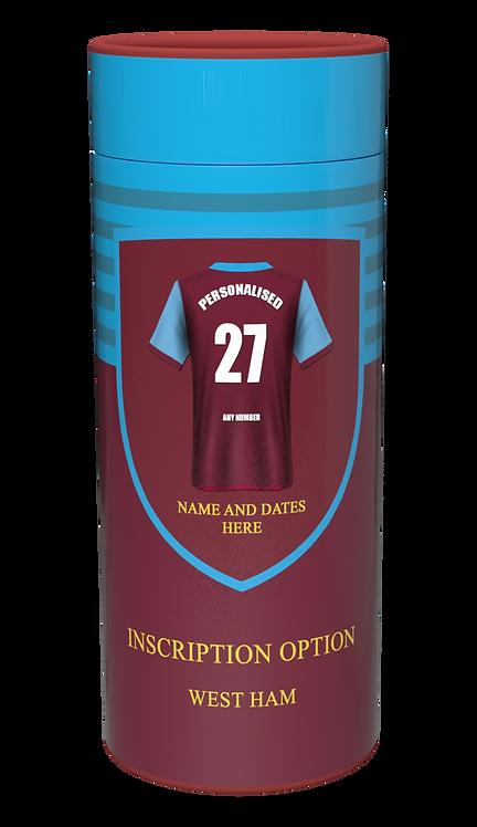Custom Personalised Cremation Ashes Casket Urn FOOTBALL TEAM WEST HAM