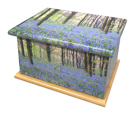 Personalised Custom BLUEBELL WOOD Cremation Ashes Casket and Keep-Sake Urns