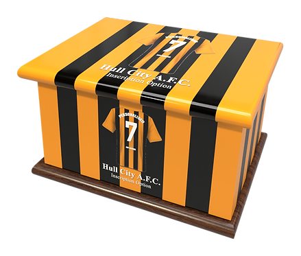 Custom Personalised Cremation Ashes Casket Urn FOOTBALL HULL CITY AFC