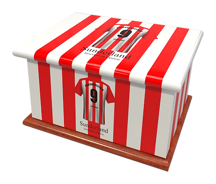 Custom Personalised Cremation Ashes Caskets Urn FOOTBALL TEAM SUNDERLAND