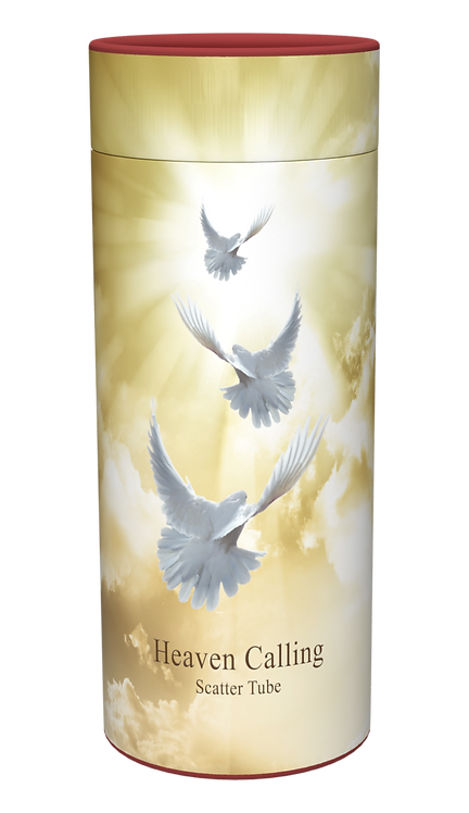 Custom Personalised Cremation Ashes Casket Urn RELIGIOUS HEAVEN WHITE DOVES