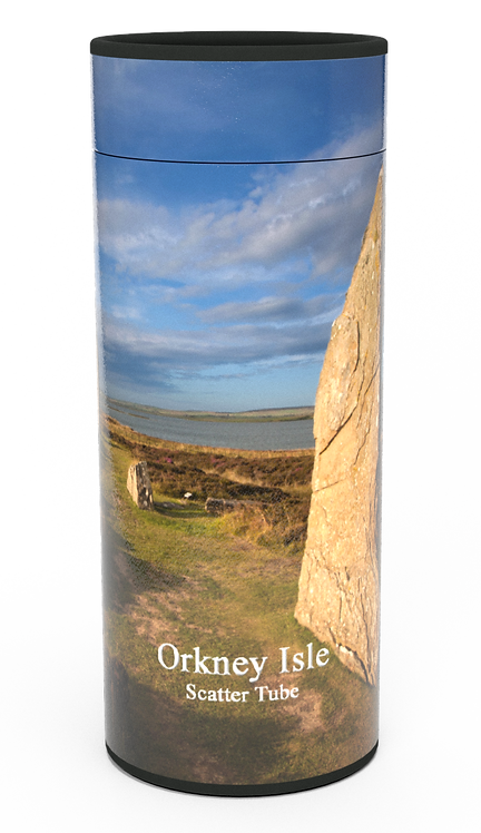 Custom Personalised Cremation Ashes Casket Urn Scenic Landscape ORKNEY