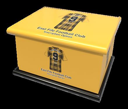 Custom Personalised Cremation Ashes Casket Urn FOOTBALL TEAM EAST FIFE SCOTLAND