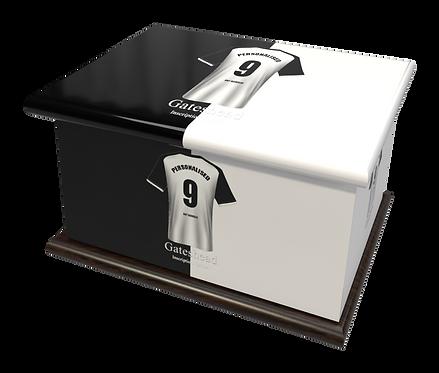 Custom Personalised Cremation Ashes Casket urn FOOTBALL TEAM GATESHEAD