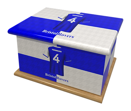 Custom Personalised Cremation Ashes Casket Urn FOOTBALL BRISTOL ROVERS