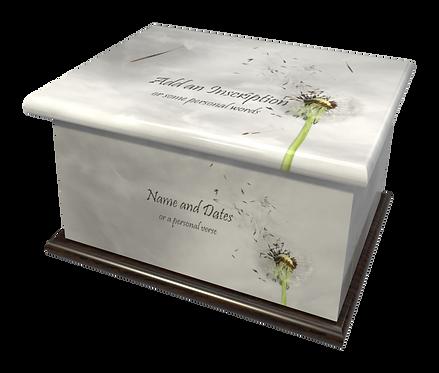 Personalised Custom FLORAL DANDELION Cremation Ashes Casket and Keep-Sake Urns