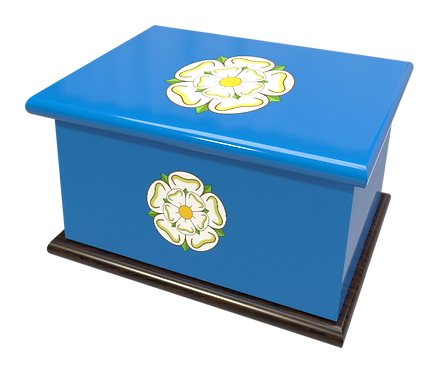 Custom Personalised Ashes Casket in a YORKSHIRE ROSE design