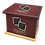 Thumbnail: Pet Ashes Casket LEATHER (WINE)