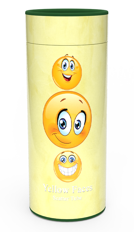 Custom Personalised Funeral Cremation Ashes Casket Urn Hobby Sport Interest YELLOW EMOJI