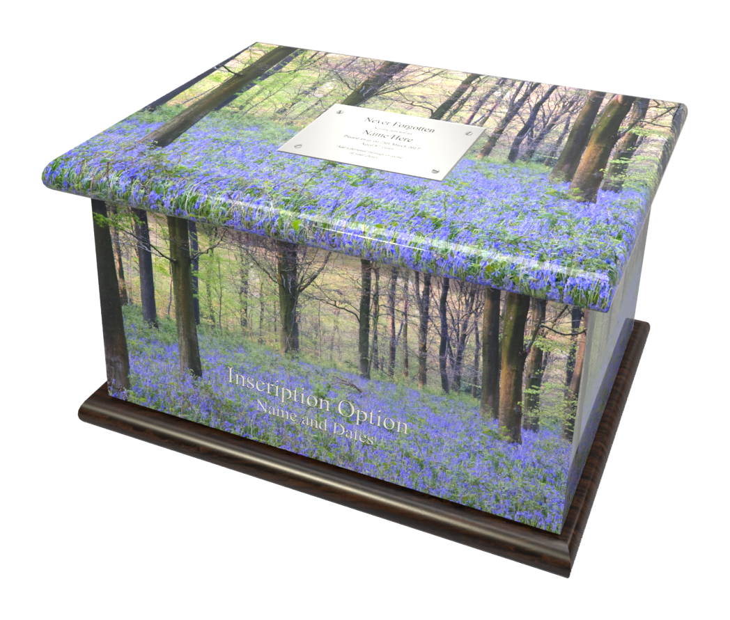 Ashes Casket BLUEBELL WOOD (STAINED MAHO