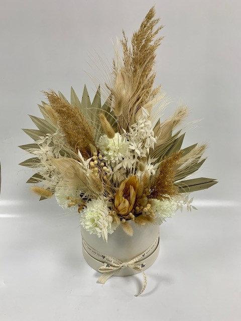 Dried Flower Hat Box Arrangement