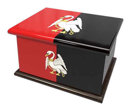 Personalised Custom Cremation Ashes Caskets COUNTRY AND BRITISH COUNTY FLAGS BUCKINGHAMSHIRE