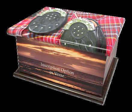 Scottish TARTAN design PEROSNALISED CUSTOM Cremation Ashes Caskets, Urns and Keep-Sakes